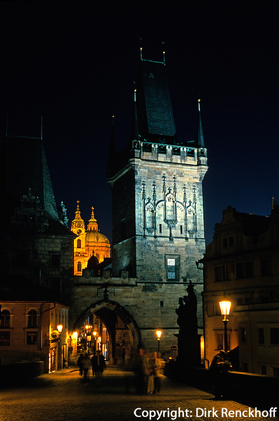 Tschechien, Prag, Kleinseitener Brueckenturm, Unesco-Weltkulturerbe.