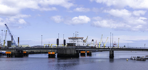 File image of the Thomas Clarke Bridge (East-Link) across the River Liffey at Dublin Port