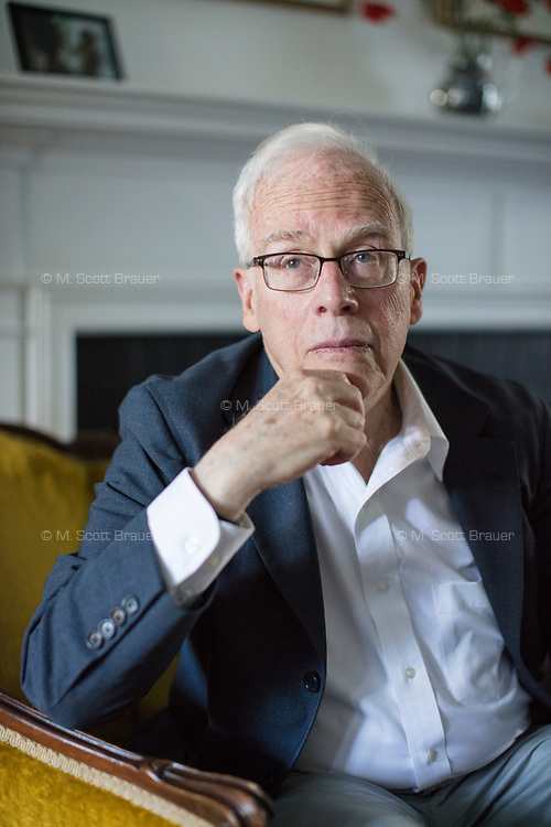 """Charles S. Maier is the Leverett Saltonstall Professor of History at Harvard University, seen here at his home in Cambridge, Massachusetts, USA, on Wed., June 28, 2017. He is the author of many books, including 2016's """"Once Within Borders: Territories of Power, Wealth, and Belonging since 1500."""""""