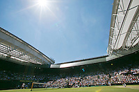 England, London, 28.06.2014. Tennis, Wimbledon, AELTC, Men's semifinal between Novak Djokovic  (SRB) and Grigor Dimitrov (BUL), Pictured: Overall Centercourt view<br /> Photo: Tennisimages/Henk Koster
