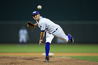 Winston-Salem Dash relief pitcher Kyle Kubat (3) delivers a pitch to the plate against the Buies Creek Astros at BB&T Ballpark on June 23, 2017 in Winston-Salem, North Carolina.  The Astros defeated the Dash 3-0.  (Brian Westerholt/Four Seam Images)