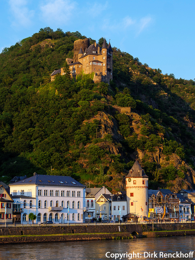 Burg Katz, St. Goarshausen, Rheinland-Pfalz, Deutschland, Europa, UNESCO Weltkulturerbe<br /> Castle Katz, St. Goarshausen, Rhineland-Palatinate, Germany, Europe