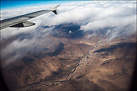 Himalaya mountains from above