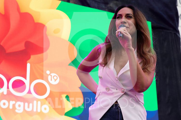 Spanish singer Monica Naranjo during the presentation of the lgtb pride party of Madrid. July 3, 2019. (ALTERPHOTOS/JOHANA HERNANDEZ)