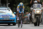 Alexander Vinokourov (KAZ) Astana in action during Stage 19 of the 2010 Tour de France an individual time trial running 52km from Bordeaux to Pauillac, France. 24th July 2010.<br /> (Photo by Eoin Clarke/NEWSFILE).<br /> All photos usage must carry mandatory copyright credit (© NEWSFILE | Eoin Clarke)