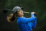 Liu Yu of China tees off at the 15th hole during Round 3 of the World Ladies Championship 2016 on 12 March 2016 at Mission Hills Olazabal Golf Course in Dongguan, China. Photo by Victor Fraile / Power Sport Images