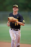 Petey Halpin (14) during the WWBA World Championship at the Roger Dean Complex on October 12, 2019 in Jupiter, Florida.  Petey Halpin attends Mira Costa High School in San Mateo, CA and is committed to Texas.  (Mike Janes/Four Seam Images)