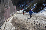 Beth skiing Les Cascades, Flaine Ski Area, France.