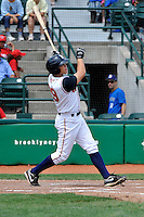 Brooklyn Cyclones outfielder Travis Taijeron (29) during game against the Williamsport Crosscutters at MCU Park on August 3, 2011 in Brooklyn, NY.  Brooklyn defeated Williamsport 3-2.  Tomasso DeRosa/Four Seam Images