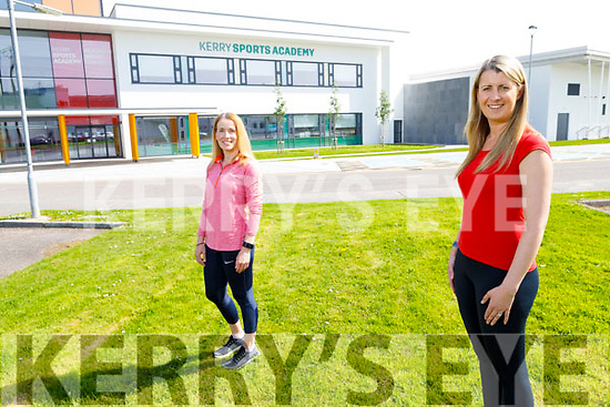 Hazel Byrne (front) and Marie Hayes at the Kerry Sports Academy in Tralee as they get ready to do the 1 Million Step challenge on Thursday.