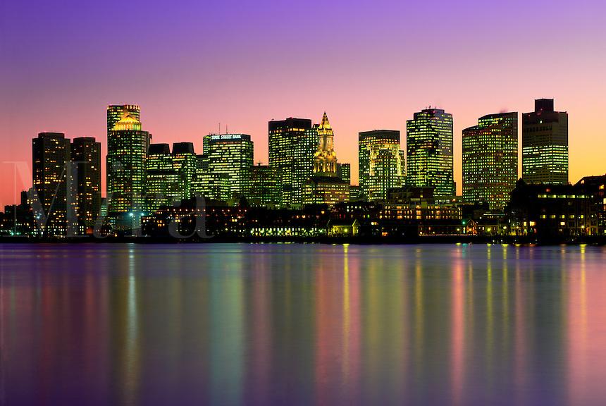 Harbor skyline from East Boston, Boston, MA