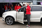 Real Madrid player Pepe participates and receives new Audi during the presentation of Real Madrid's new cars made by Audi at the Jarama racetrack on November 8, 2012 in Madrid, Spain.(ALTERPHOTOS/Harry S. Stamper)