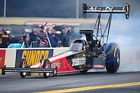 Oct. 2, 2011; Mohnton, PA, USA: NHRA top fuel dragster driver Rod Fuller during the Auto Plus Nationals at Maple Grove Raceway. Mandatory Credit: Mark J. Rebilas-