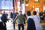 © Joel Goodman - 07973 332324 . 01/01/2016 . Manchester , UK . A man with his fists clenched in a fight . Revellers in Manchester on a New Year night out at the clubs around the city centre's Printworks venue . Photo credit : Joel Goodman