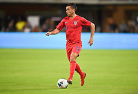 WASHINGTON, D.C. - OCTOBER 11: Daniel Lovitz #5 of the United States dribbles with the ball during their Nations League game versus Cuba at Audi Field, on October 11, 2019 in Washington D.C.