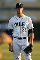 March 13, 2010:  Outfielder Andrew Kolmar of the Yale Bulldogs vs. the Akron Zips in a game at Henley Field in Lakeland, FL.  Photo By Mike Janes/Four Seam Images