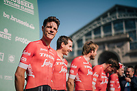 Jasper Stuyven (BEL/Trek-Segafredo) at the team presentation<br /> <br /> 98th Brussels Cycling Classic 2018<br /> One Day Race:  Brussels > Brussels (201km)