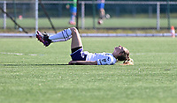 Tessa Wullaert (27) of Anderlecht pictured looking dejected and disappointed during a female soccer game between Club Brugge Dames YLA and RSC Anderlecht on the fourth matchday in Play-Off 1 of the 2020 - 2021 season of Belgian Scooore Womens Super League , saturday 1st May 2021  in Brugge , Belgium . PHOTO SPORTPIX.BE | SPP | DAVID CATRY