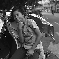 Street life near Malate church in Manila, Philippines