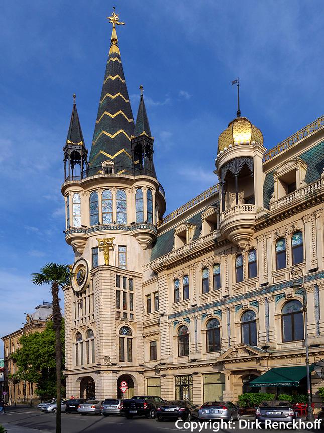 Jugendstilhaus am Europaplatz, Batumi, Adscharien - Atschara, Georgien, Europa<br /> Art Nouveau Villa at Europe Square,. Batumi, Adjara,  Georgia, Europe