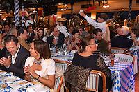 """--- NO TABLOIDS, NO WEB SITE --- Une vue gÈnÈrale de la soirÈe d'ouverture de la 11Ëme Èdition de l'Oktoberfest au CafÈ de Paris le 14 octobre 2016. La SociÈtÈ des Bains de Mer cÈlËbre """"Oktoberfest"""" selon la pure tradition bavaroise, en partenariat avec la brasserie Weihenstephan, biËre munichoise. Les dinners se dÈroulent sous le chapiteau installÈ et†dÈcorÈ pour loccasion du 14 au 23 octobre 2016."""