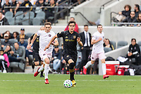 LOS ANGELES, CA - MARCH 01: Francisco Ginella #8 of LAFC streaks with the ball in a match against Inter Miami CF during a game between Inter Miami CF and Los Angeles FC at Banc of California Stadium on March 01, 2020 in Los Angeles, California.