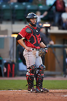 Great Lakes Loons catcher Brant Whiting (7) during a game against the Dayton Dragons on May 21, 2015 at Fifth Third Field in Dayton, Ohio.  Great Lakes defeated Dayton 4-3.  (Mike Janes/Four Seam Images)