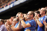 Pictured: Chelsea supporters. Saturday 13 September 2014<br /> Re: Premier League Chelsea FC v Swansea City FC at Stamford Bridge, London, UK.