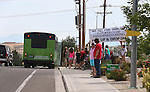 The Fandango shuttle bus for the NV150 Fair at Fuji Park, in Carson City, Nev., on Saturday, Aug. 2, 2014.<br /> Photo by Cathleen Allison