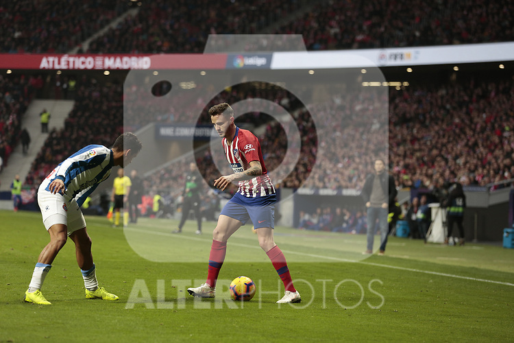 Atletico de Madrid's Saul Niguez during La Liga match between Atletico de Madrid and RCD Espanyol at Wanda Metropolitano Stadium in Madrid, Spain. December 22, 2018. (ALTERPHOTOS/A. Perez Meca)