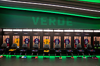 AUSTIN, TX - JUNE 16: Nike jerseys hang in the USWNT locker room before a game between Nigeria and USWNT at Q2 Stadium on June 16, 2021 in Austin, Texas.