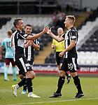 Gavin Reilly (R) celebrates his goal for St Mirren