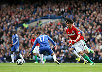 Pictured: Ki Sung Yueng takes on Hazard<br /> Barclays Premier League, Chelsea FC (blue) V Swansea City,<br /> 28/04/13