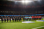 Players of Aletico de Madrid and Chelsea FC line up and pose for photos prior to the UEFA Champions League 2017-18 match between Atletico de Madrid and Chelsea FC at the Wanda Metropolitano on 27 September 2017, in Madrid, Spain. Photo by Diego Gonzalez / Power Sport Images