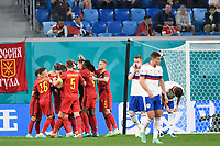 ST PETERSBURG, RUSSIA - JUNE 12 : players of Belgium are celebrating the 2-0  pictured during the 16th UEFA Euro 2020 Championship Group B match between Belgium and Russia on June 12, 2021 in St Petersburg, Russia, 12/06/2021 <br /> Photo Photonews / Panoramic / Insidefoto <br /> ITALY ONLY