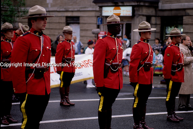 Montreal (QC) Canada- 1998 File Photo -Montreal (Qc) CANADA - July 1st 1998 File Photo - Canada Day parade organised by Dr Singh