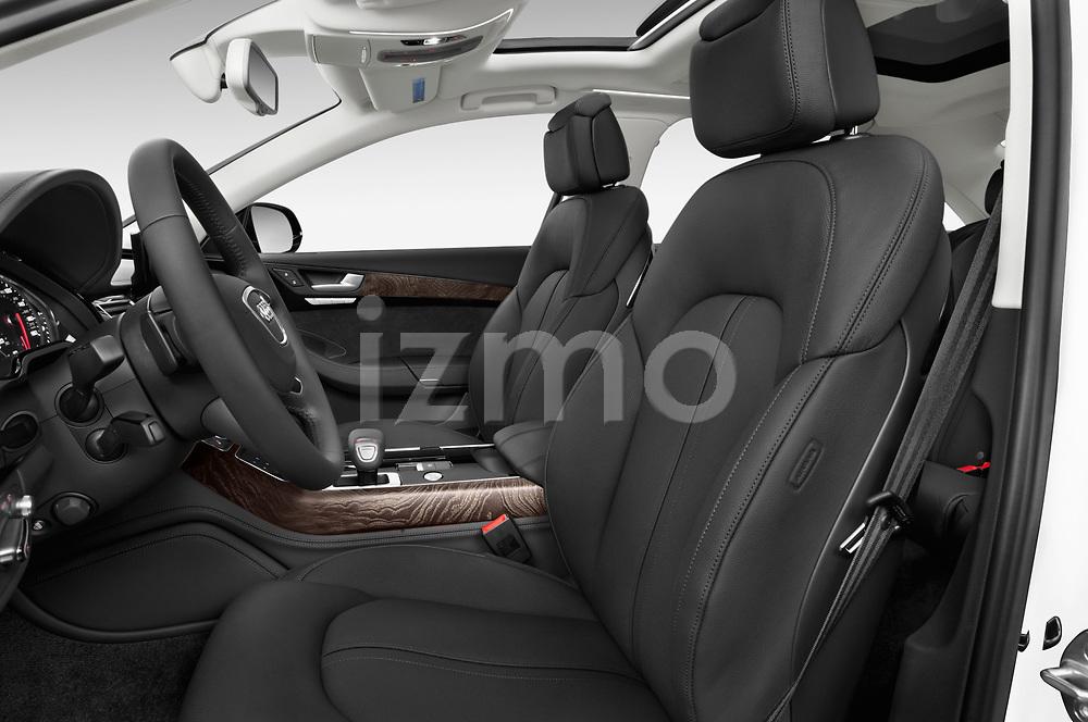 Front seat view of 2015 Audi A8 4.0T NWB quattro Tiptronic 5 Door Sedan front seat car photos