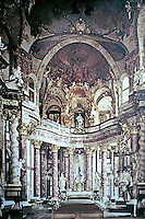 Wurzburg Residence, architect Johann Balthasar Neumann, 1687-1753; Heritage Site. Baroque style.