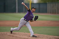 Colorado Rockies starting pitcher Justin Valdespina (70) delivers a pitch to the plate during an Extended Spring Training game against the Arizona Diamondbacks at Salt River Fields at Talking Stick on April 16, 2018 in Scottsdale, Arizona. (Zachary Lucy/Four Seam Images)