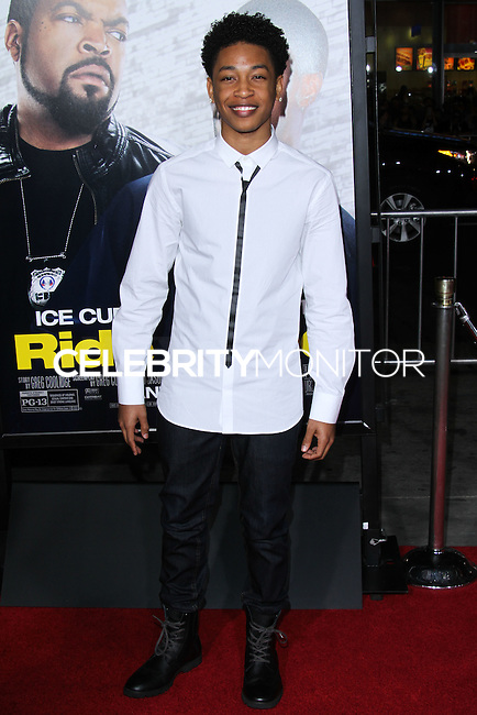 """HOLLYWOOD, CA - JANUARY 13: Jacob Latimore at the Los Angeles Premiere Of Universal Pictures' """"Ride Along"""" held at the TCL Chinese Theatre on January 13, 2014 in Hollywood, California. (Photo by David Acosta/Celebrity Monitor)"""