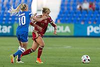 Finland's Emmi Alanen and Spain's Amanda Sampedro during the match of  European Women's Championship 2017 at Leganes, between Spain and Finland. September 20, 2016. (ALTERPHOTOS/Rodrigo Jimenez) NORTEPHOTO