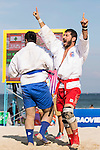 HODHODI ABKENAR Behram of Iran fights against AL-ROGHANI Alaa Issa Hamza of Iraq during the Sambo Men's +90kg on Day Nine of the 5th Asian Beach Games 2016 at Bien Dong Park on 02 October 2016, in Danang, Vietnam Photo by Marcio Machado / Power Sport Images