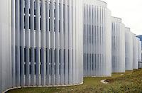 Switzerland, Ticino, Bellinzona, Ex Swisscom, Architect Durish & Nolli; Modern Architecture