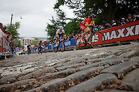 real cobbles up 23rd street<br /> <br /> Elite Women Road Race<br /> UCI Road World Championships Richmond 2015 / USA