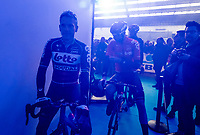 Philippe Gilbert (BEL/Lotto-Soudal) at the Teams Presentation Start Show<br /> <br /> 75th Omloop Het Nieuwsblad 2020 (1.UWT)<br /> Gent to Ninove (BEL): 200km<br /> <br /> ©kramon