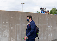 EAST HARTFORD, CT - JULY 5: Ryan Dell of the USWNT walks into the stadium during a game between Mexico and USWNT at Rentschler Field on July 5, 2021 in East Hartford, Connecticut.