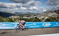 Carl Fredrik Hagen (NOR/Lotto-Soudal) at the finish after climbing the extremely brutal Alto de los Machucos <br /> <br /> Stage 13: Bilbao to Los Machucos / Monumento Vaca Pasiega (166km)<br /> La Vuelta 2019<br /> <br /> ©kramon