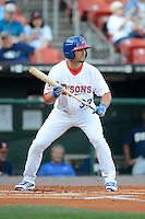 Buffalo Bisons outfielder Kevin Pillar #33 during a game against the Durham Bulls on June 24, 2013 at Coca-Cola Field in Buffalo, New York.  Durham defeated Buffalo 7-1.  (Mike Janes/Four Seam Images)