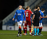 25.02.2021 Rangers v Royal Antwerp: Nathan Patterson looks to the heavens at full time