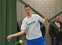 Rotterdam, Netherlands, Januari 24, 2016,  ABNAMROWTT Supermatch, Wesley Visser (NED)<br /> Photo: Tennisimages/Henk Koster